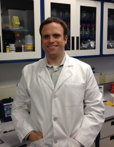 Christopher Mason in lab